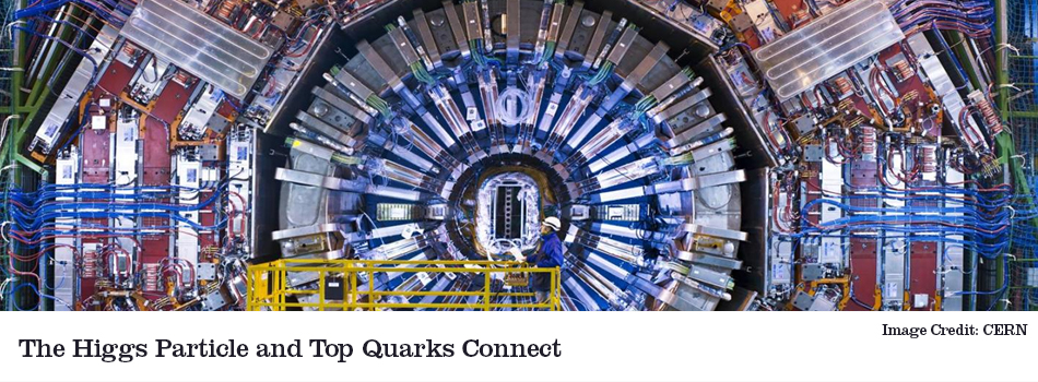 higgs and top quarks connect